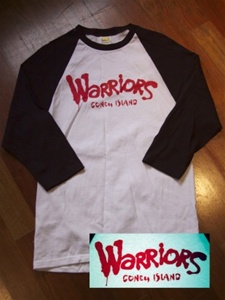 "Coney Island Mens Baseball Shirt with ""WARRIORS"" Print"