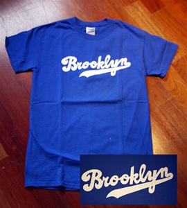 Coney Island Mens T Shirt with Brooklyn Dodgers Print