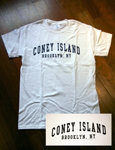 "Coney Island Mens T Shirt with ""CIBNY"" Print"