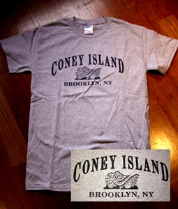 "Coney Island Mens T Shirt with ""CICYCLONE"" Print"