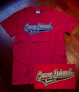 Coney Island Mens T Shirt with Coney Island Print
