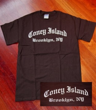 "Coney Island Mens T Shirt with OE ""ConeyIsland"" Print"
