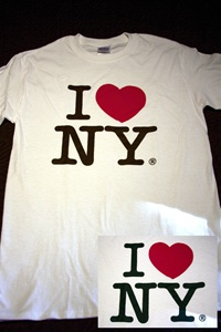 "Coney Island Mens T Shirt with "" I LOVE NY "" Print"