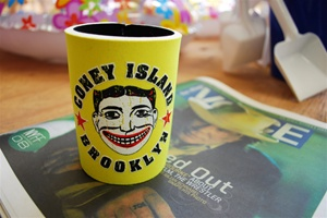 Coney Island Can Cozie with Tillie Face [YELLOW]