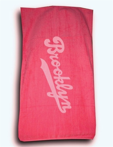 Terry Velour BROOKLYN Beach Towel (Hot Pink)