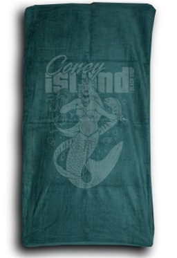 Towel.Velour.Mermaid (Green)