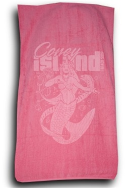 Terry Velour MERMAID Beach Towel [Pink]