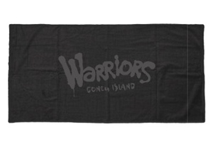 "Terry Velour Coney Island Beach Towel: ""Warriors"" [Black]"