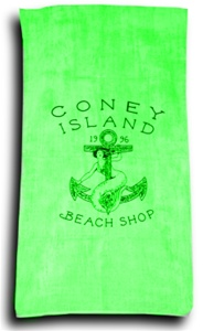 Terry Velour LOGO Beach Towel [Green]