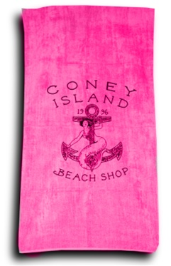 Terry Velour LOGO Beach Towel [Pink]