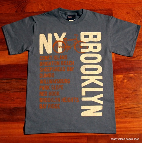 """BROOKLYN NEIGHBORHOODS"" Unisex T-Shirt (Lake Blue)"