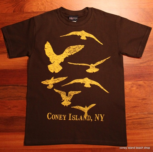 """CONEY ISLAND SEAGULLS"" Unisex T-Shirt (Brown)"