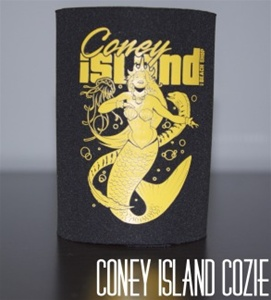 coney island can Cozie with Mermaid [Black]