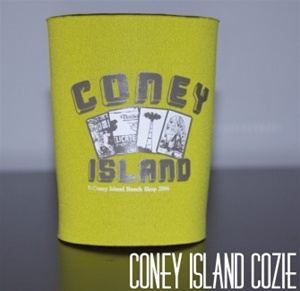 coney island can Cozie with LandMark [YELLOW]