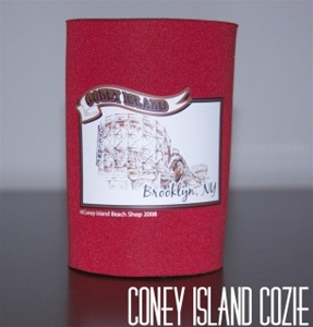 Coney island can Cozie with Cyclone [Red]