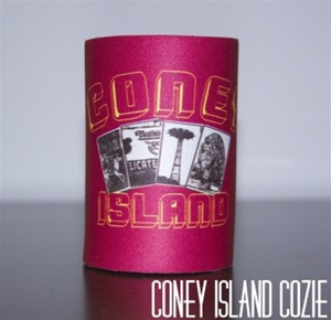 coney island can Cozie with LandMarks [RED]