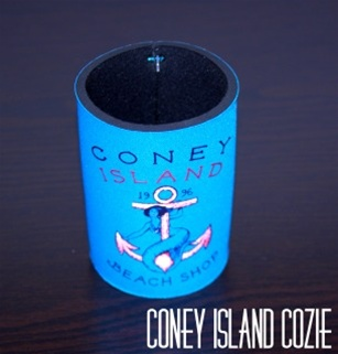 coney island can Cozie with CIBS Logo [Elec.Blue]