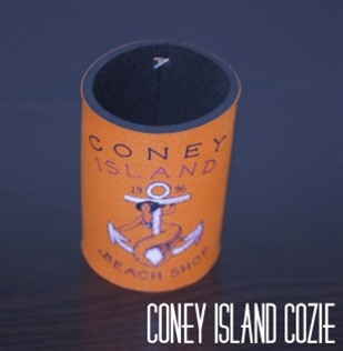 coney island can Cozie with CIBS Logo [ORANGE]