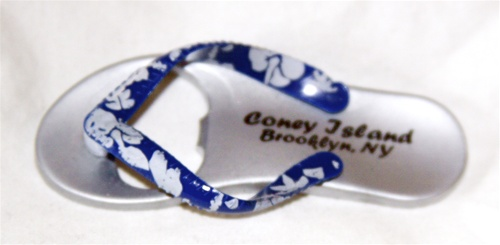 Coney island Flip Flop Magnet with Bottle Opener [BLUE]