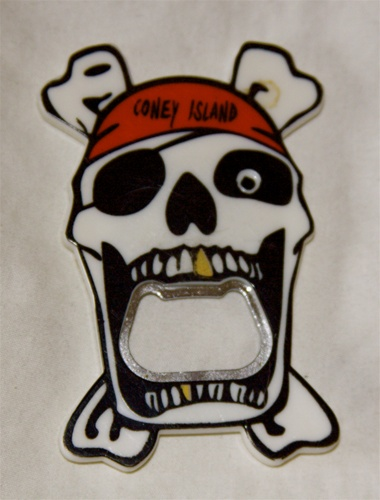 Coney island Pirate Magnet with Bottle Opener [White]