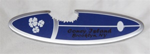 Coney island Surf Board Magnet with Bottle Opener [BLUE]