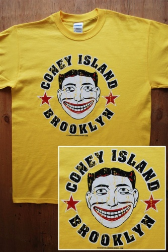 Coney Island T Shirt with Tillie Face