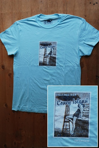 """Greetings from Coney Island"" Postcard Vintage T Shirt"
