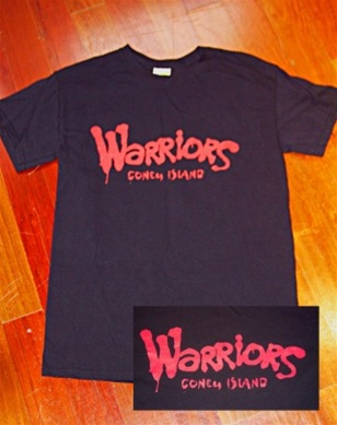 "Coney Island Mens T Shirt with ""WARRIORS"" Print"