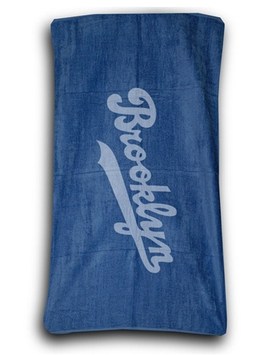 Terry Velour BROOKLYN Beach Towel (Navy)