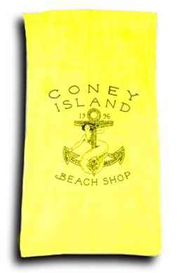 Terry Velour LOGO Beach Towel [Yellow]