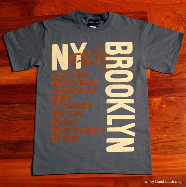 Brooklyn neighborhoods unisex t shirt lake blue for T shirt printing brooklyn