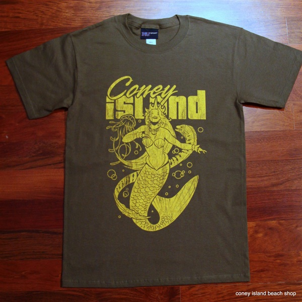 CONEY ISLAND MERMAID T-Shirt (Olive) 154363c16